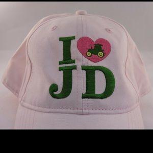 John Deere Womens Pink Baseball Hat